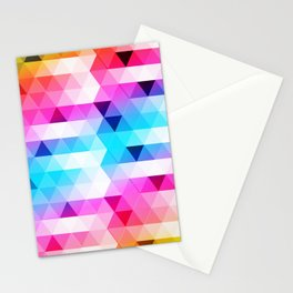 Abstract Triangle Colorful Stationery Cards