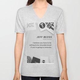 Jeff Bezos Quote On Be Willing To Be Misunderstood Unisex V-Neck