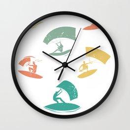 Kitesurfing Colorful Wall Clock