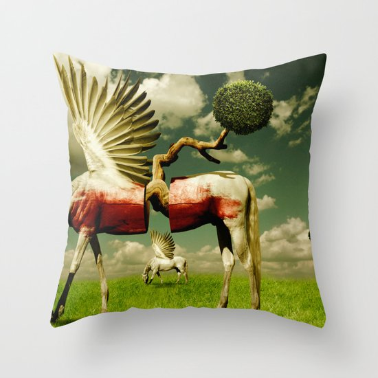 Pegasus Divided Throw Pillow
