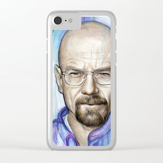 Walter White Portrait Clear iPhone Case