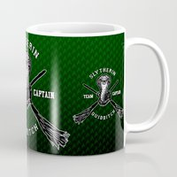 quidditch Mugs featuring Slytherin quidditch team iPhone 4 4s 5 5c, ipod, ipad, pillow case, tshirt and mugs by Three Second