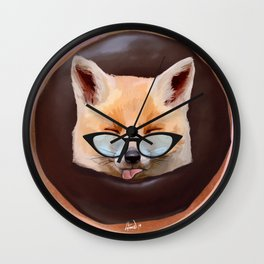 Fox Choco Donut Wall Clock