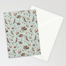 Cute Sea Otters Stationery Cards
