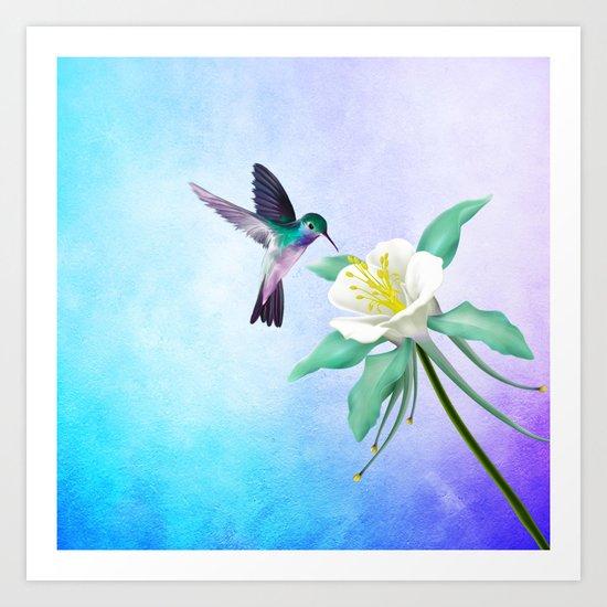 hummingbird. Art Print