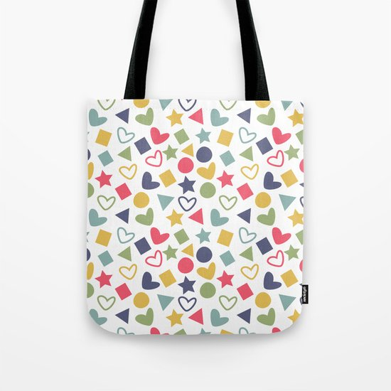 Colorful Lovely Pattern Tote Bag