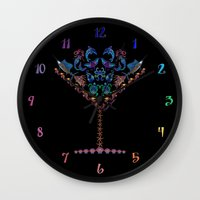 martini Wall Clocks featuring Marine Martini by artsytoocreations
