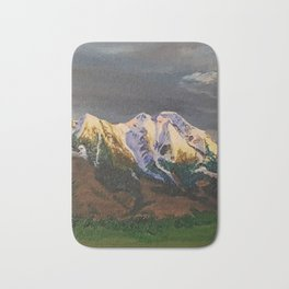 Crazy Mountains Bath Mat
