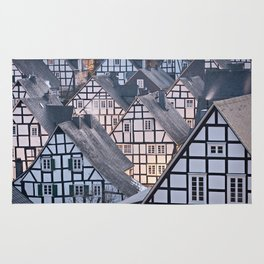 Historic half-timbered houses of Germany Rug