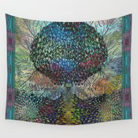philosophy Wall Tapestries featuring Tree of Life 2 - The Sacred Tree  by Klara Acel
