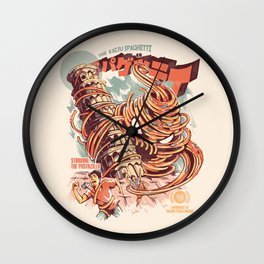 The Kaiju Spaghetti Wall Clock
