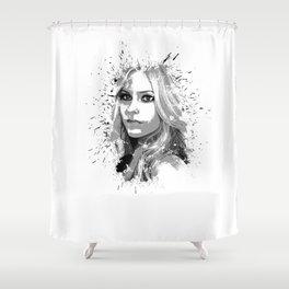 avril lavigne desain 001 Shower Curtain