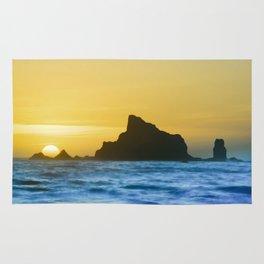 Sea Stack Sunset Rug
