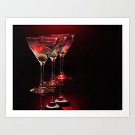 Red hot martinis. Art Print