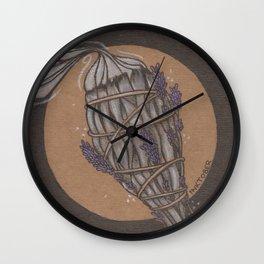 Smudge Stick Wall Clock