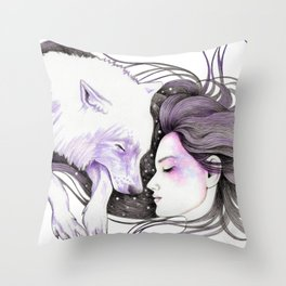Sleep Like Woves Throw Pillow