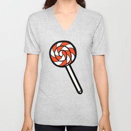 Red, white & blue lollipops pattern Unisex V-Neck