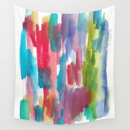 180812 Abstract Watercolour Expressionism 9   Colorful Abstract   Modern Watercolor Art Wall Tapestry