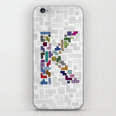 letter k - gaming blocks iPhone & iPod Skin