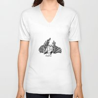 literary V-neck T-shirts featuring Literary. by  randimae