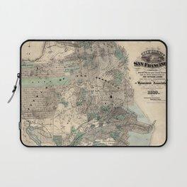 Map of San Francisco 1869 Laptop Sleeve