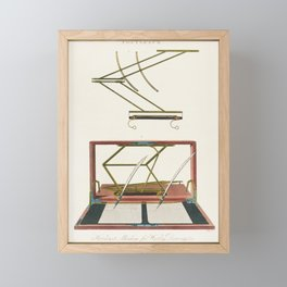 Hawkins Machine for writing and drawing Framed Mini Art Print