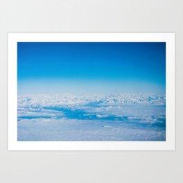 In the sky Art Print