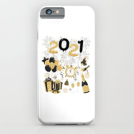 2021 New Year Celebration Men Women Kids Gift iPhone Case