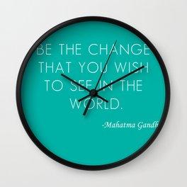 Mahatma Ghandi quote Wall Clock