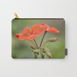 Scarlet Pelargonium Carry-All Pouch