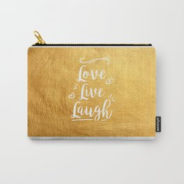 Love Live Laugh Carry-All Pouch