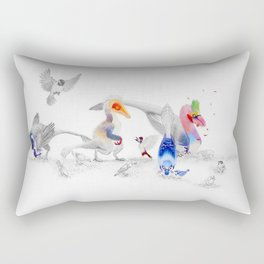 #BirdsAreDinosaurs Rectangular Pillow