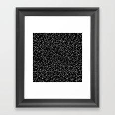 Shattered White on Black Framed Art Print