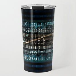 Evolving Technology Evolution As A Background Art Travel Mug