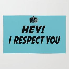 """I Respect you """"Blue"""" Rug"""