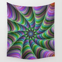 striped Wall Tapestries featuring Striped tentacles by David Zydd