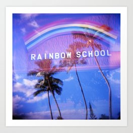 Rainbow School Art Print