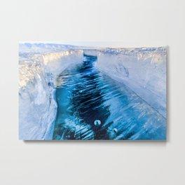 The crack of Baikal ice Metal Print