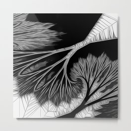 Prominent B & W Tree Mirage Metal Print