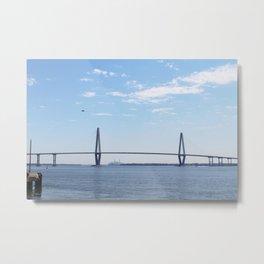 Bridge over Charleston Waters Metal Print