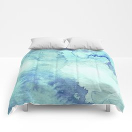 Watercolor pattern turquoise Comforters