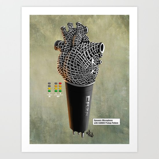 CRZN Dynamic Microphone - 002 Art Print