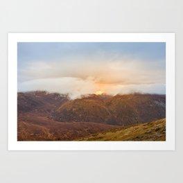 Sunrise over Mourne Mountains Northern Ireland Art Print