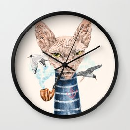 Sphynx Cat II Wall Clock