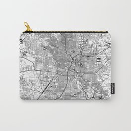 San Antonio White Map Carry-All Pouch