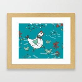 Hens and Chicks Framed Art Print