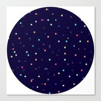 constellations Canvas Prints featuring Constellations by Jenna Mhairi