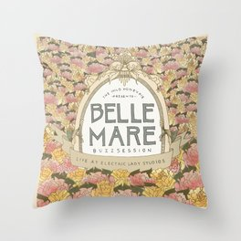 Belle Mare Buzzsession Cover Art Throw Pillow
