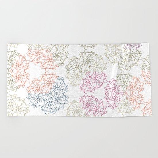 FlowerNet Beach Towel
