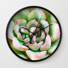 Spring Succulent Wall Clock